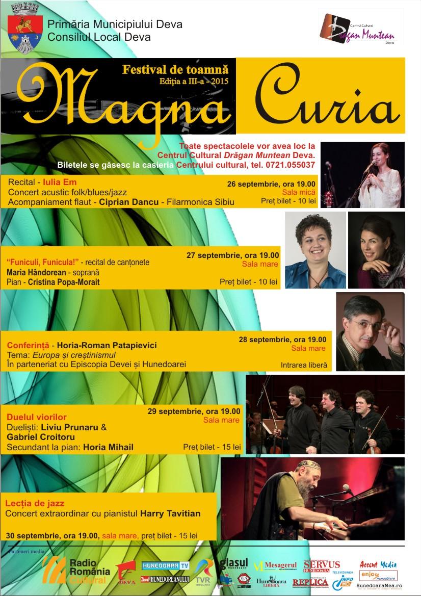 Harry Tavitian în premieră la Deva în Festivalul Magna Curia
